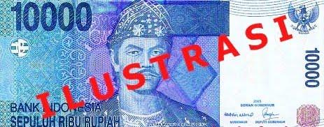uang Rp10.000,- versi terbaru